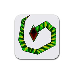 Decorative Snake Rubber Square Coaster (4 Pack)  by Valentinaart