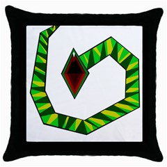 Decorative Snake Throw Pillow Case (black) by Valentinaart
