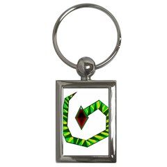 Decorative Snake Key Chains (rectangle)  by Valentinaart