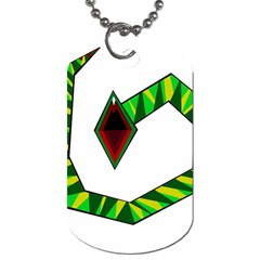 Decorative Snake Dog Tag (two Sides) by Valentinaart