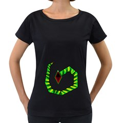 Decorative Snake Women s Loose Fit T Shirt (black) by Valentinaart