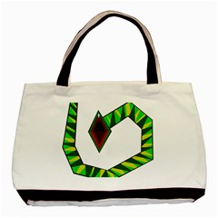 Decorative Snake Basic Tote Bag by Valentinaart