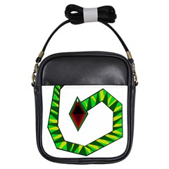 Decorative Snake Girls Sling Bags by Valentinaart