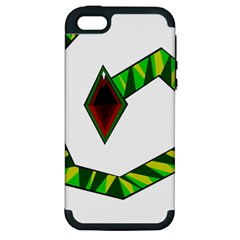 Decorative Snake Apple Iphone 5 Hardshell Case (pc+silicone) by Valentinaart