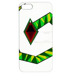 Decorative Snake Apple Iphone 5 Hardshell Case With Stand by Valentinaart