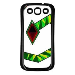 Decorative Snake Samsung Galaxy S3 Back Case (black) by Valentinaart