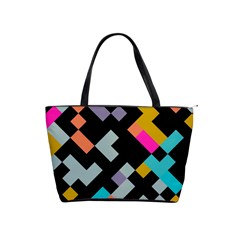 Connected Shapes                                                                             Classic Shoulder Handbag by LalyLauraFLM