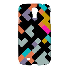 Connected Shapes                                                                             samsung Galaxy S4 I9500/i9505 Hardshell Case by LalyLauraFLM