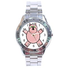 Pink Rhino Stainless Steel Analogue Watch by Valentinaart