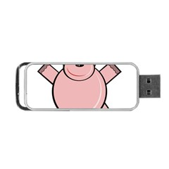 Pink Rhino Portable Usb Flash (one Side) by Valentinaart
