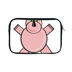 Pink Rhino Apple Ipad Mini Zipper Cases by Valentinaart