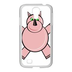 Pink Rhino Samsung Galaxy S4 I9500/ I9505 Case (white) by Valentinaart