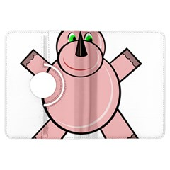 Pink Rhino Kindle Fire Hdx Flip 360 Case by Valentinaart