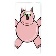 Pink Rhino Galaxy Note 4 Back Case by Valentinaart