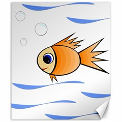 Cute Fish Canvas 20  X 24   by Valentinaart