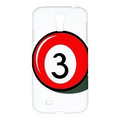 Billiard ball number 3 Samsung Galaxy S4 I9500/I9505 Hardshell Case
