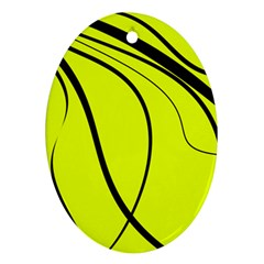 Yellow decorative design Ornament (Oval)  by Valentinaart