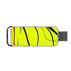Yellow decorative design Portable USB Flash (One Side) by Valentinaart