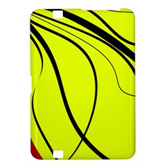 Yellow decorative design Kindle Fire HD 8.9  by Valentinaart