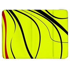 Yellow Decorative Design Samsung Galaxy Tab 7  P1000 Flip Case by Valentinaart