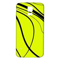 Yellow decorative design Samsung Galaxy S5 Back Case (White) by Valentinaart