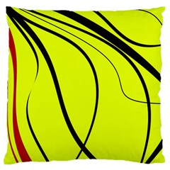 Yellow Decorative Design Standard Flano Cushion Case (one Side) by Valentinaart