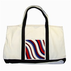 Decorative Lines Two Tone Tote Bag by Valentinaart