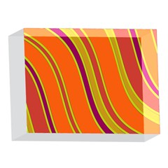 Orange lines 5 x 7  Acrylic Photo Blocks by Valentinaart