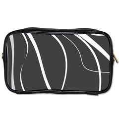 Black And White Elegant Design Toiletries Bags by Valentinaart