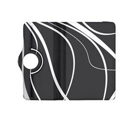 Black And White Elegant Design Kindle Fire Hdx 8 9  Flip 360 Case by Valentinaart