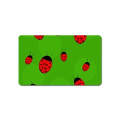 Ladybugs Magnet (name Card) by Valentinaart