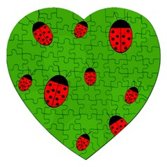 Ladybugs Jigsaw Puzzle (heart) by Valentinaart
