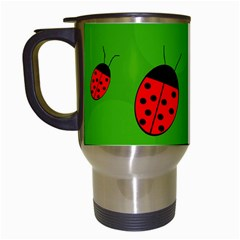 Ladybugs Travel Mugs (white) by Valentinaart