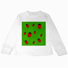 Ladybugs Kids Long Sleeve T Shirts by Valentinaart
