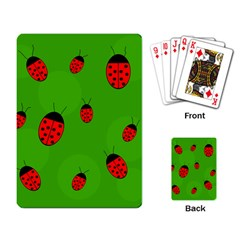 Ladybugs Playing Card by Valentinaart