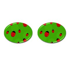 Ladybugs Cufflinks (oval) by Valentinaart