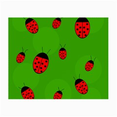 Ladybugs Small Glasses Cloth (2 Side) by Valentinaart