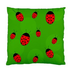 Ladybugs Standard Cushion Case (two Sides) by Valentinaart