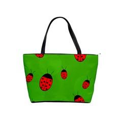 Ladybugs Shoulder Handbags by Valentinaart