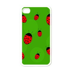 Ladybugs Apple Iphone 4 Case (white) by Valentinaart