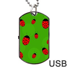 Ladybugs Dog Tag Usb Flash (two Sides)  by Valentinaart