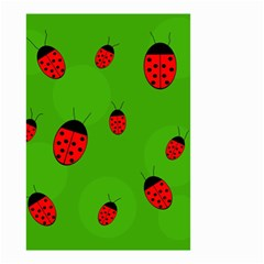Ladybugs Small Garden Flag (two Sides) by Valentinaart