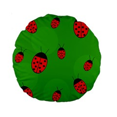 Ladybugs Standard 15  Premium Round Cushions by Valentinaart