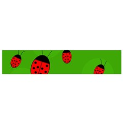 Ladybugs Flano Scarf (small) by Valentinaart