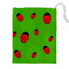 Ladybugs Drawstring Pouches (xxl) by Valentinaart