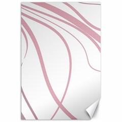 Pink Elegant Lines Canvas 20  X 30   by Valentinaart