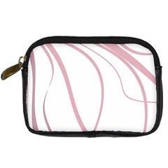 Pink Elegant Lines Digital Camera Cases by Valentinaart