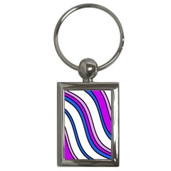 Purple Lines Key Chains (rectangle)  by Valentinaart