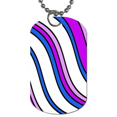 Purple Lines Dog Tag (two Sides) by Valentinaart