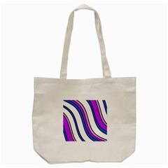Purple Lines Tote Bag (cream) by Valentinaart